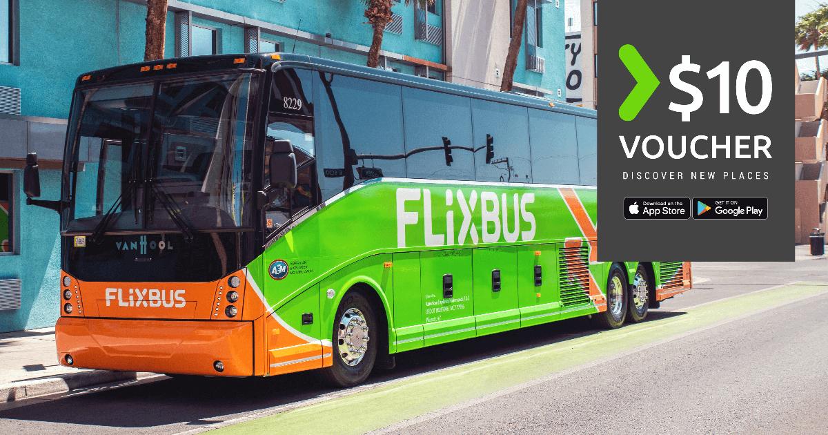 Gratis $10 voucher voor elke Flixbus boeking in het US network