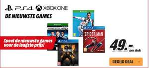 Xbox One / PS4 Red Friday deals Fifa 19, Call of Duty Black Ops 4, F1 2018 of Spiderman €49 @MediaMarkt