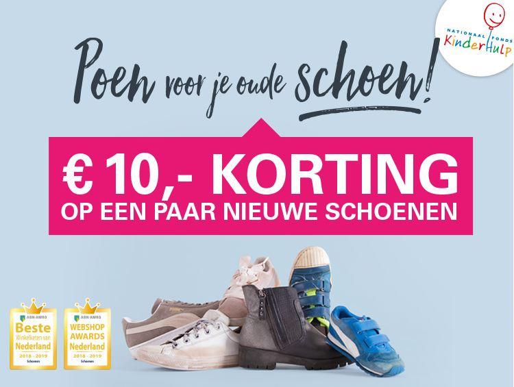€10 korting op een nieuw paar schoenen tegen inlevering van jouw oude paar schoenen @SchuurmanSchoenen