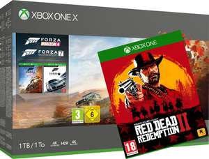 Xbox One X console 1 TB + Forza Horizon 4 + Forza Motorsport 7 + Red Dead Redemption 2