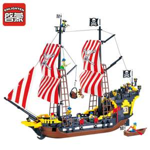 Enlighten (LEGO-kloon) piratenschip voor €25,12 @ Aliexpress.com