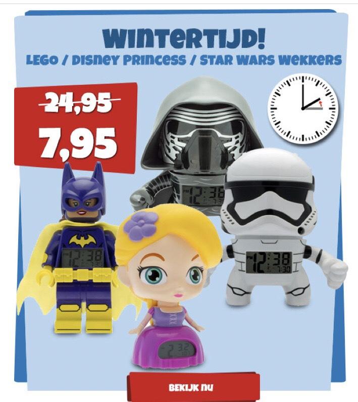 Alle Lego wekkers voor 7,95