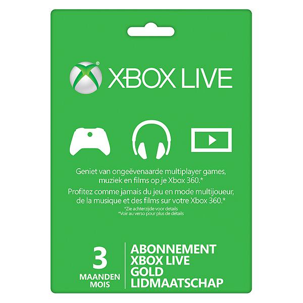 3 maanden Xbox Live Gold Membership Card @CDKeys
