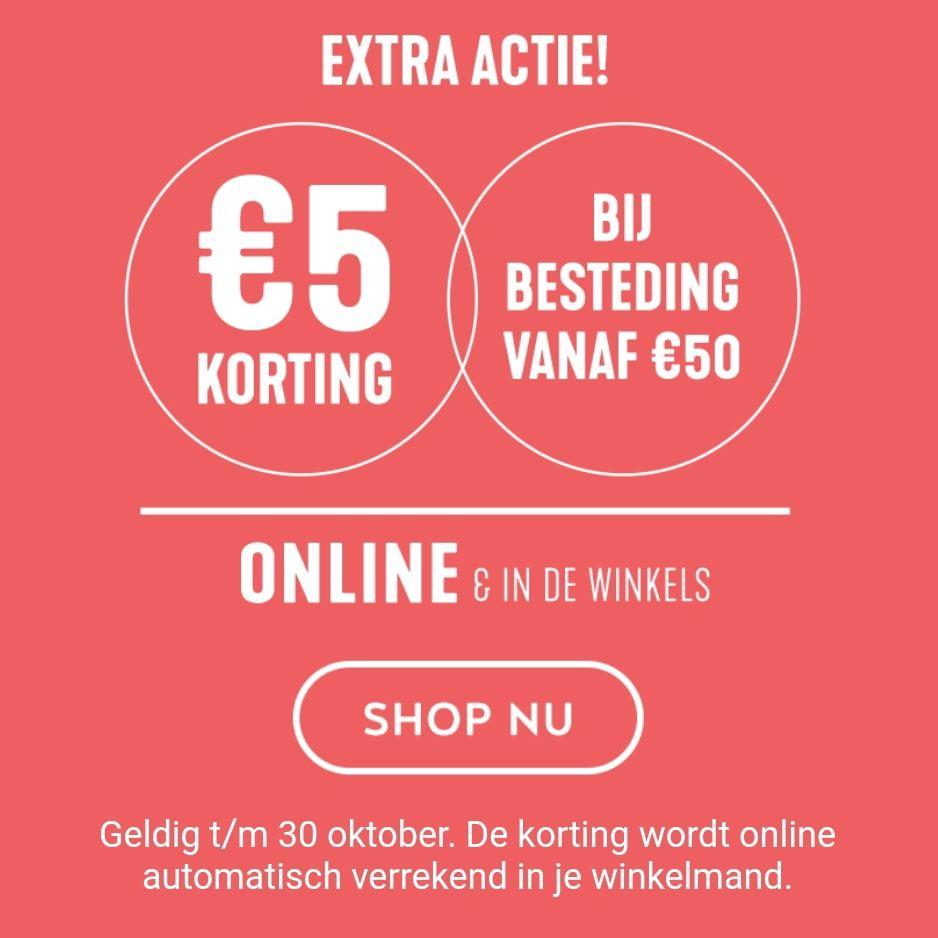 De actie is verlengd bij Holland & Barrett €5 korting bij besteding vanaf €50!