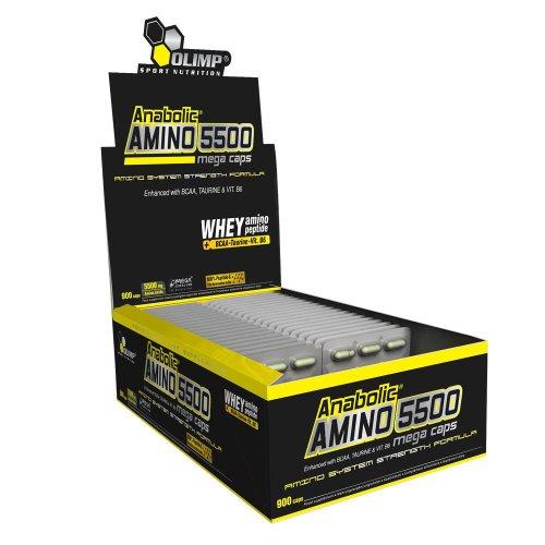 Olimp Anabolic Amino 5500 Mega Caps (900 stuks) voor €12,69 @ Amazon.it
