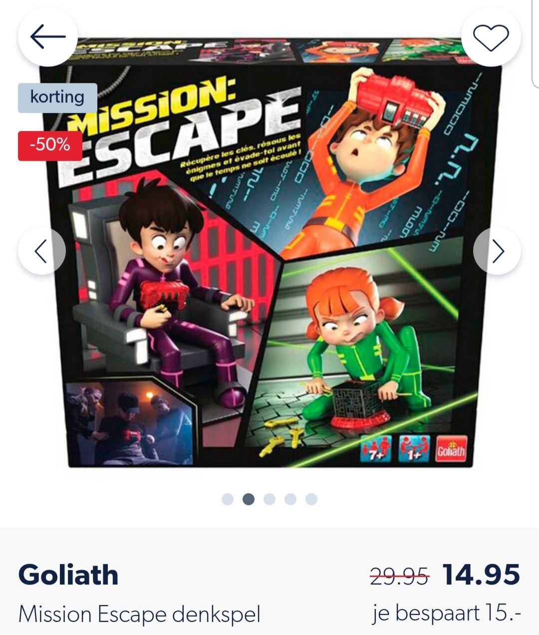 Goliath mission escape denkspel 7+