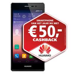 FOUT: Huawei Ascend P7 i.c.m. T-Mobile abonnement voor €5 (na cashback) @ GSMWeb