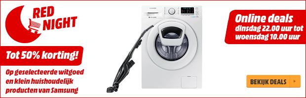 Red Night: Tot 50% korting op geselecteerde huishoudelijke producten van Samsung @ MediaMarkt