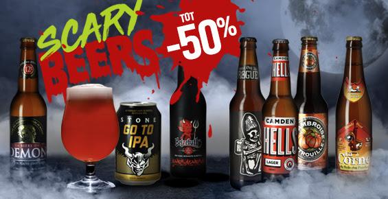 """Tot 50% korting op """"HALLOWEEN: DRINK OR TREAT!"""" bieren van HOPT"""