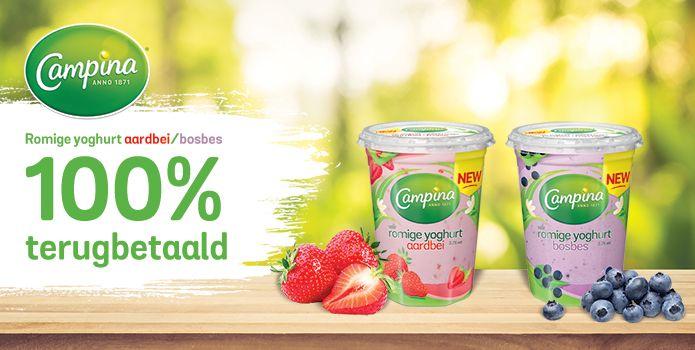 [Grensdeal België] Gratis Campina romige yoghurt met fruit