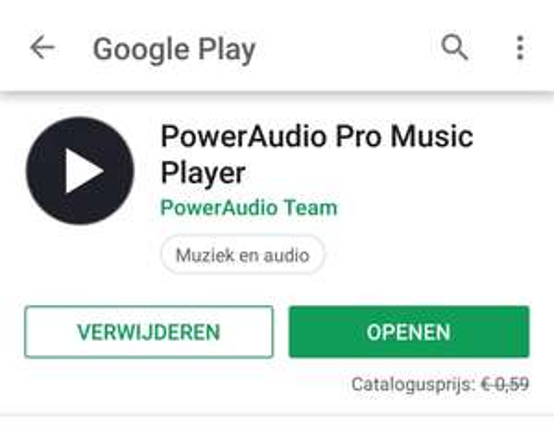 [App] PowerAudio Pro music player @ Google play store