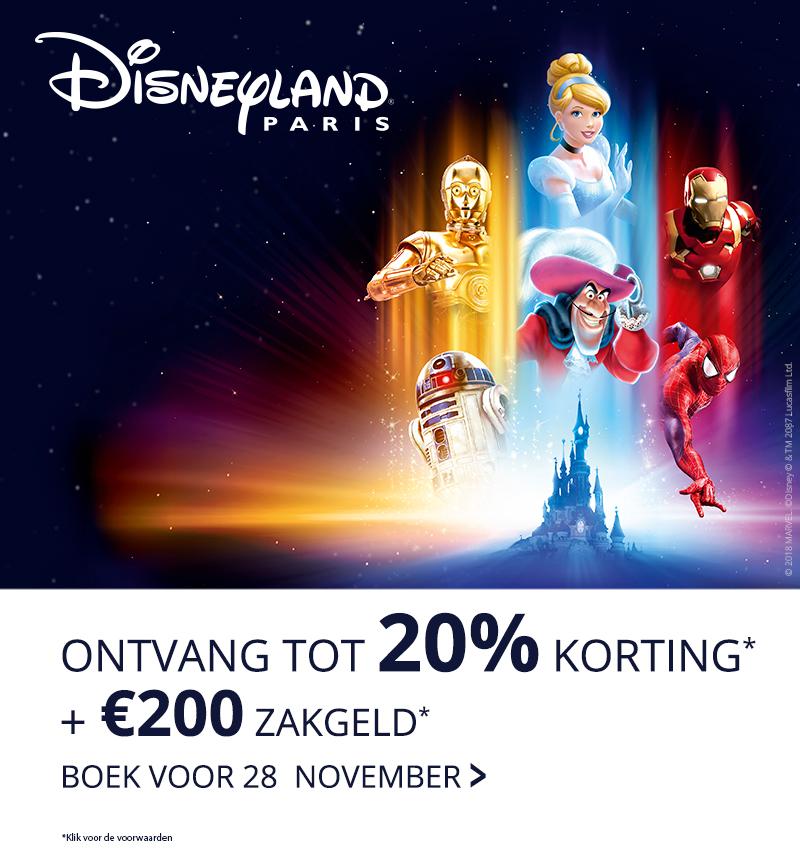 Tot 20% korting op Disney hotels en toegang plus €200 zakgeld @ Disneyland Parijs
