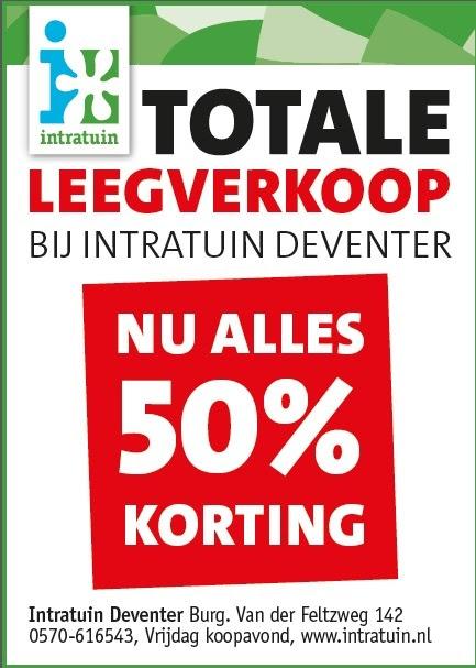 50% korting Intratuin Deventer