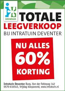70% korting Intratuin Deventer