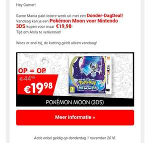 Pokemon Moon voor Nintendo 3DS