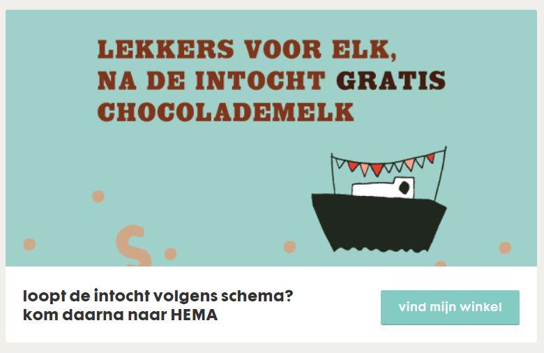 GRATIS chocolademelk na intocht Sinterklaas @ HEMA