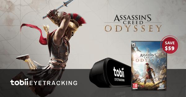 Gratis Assassins Creed Odyssey bij aankoop van Tobii Eye Tracker 4C