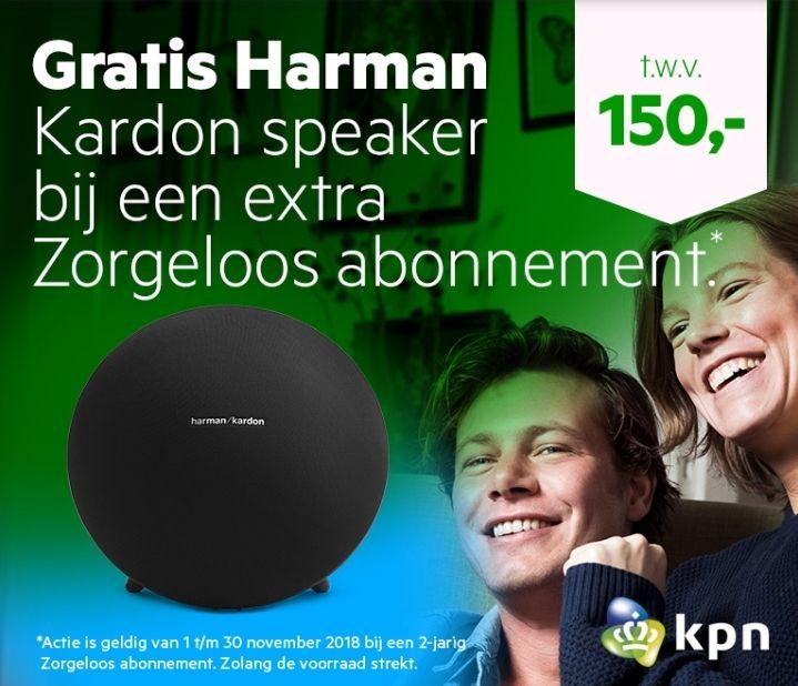 Gratis Harman Kardon onyx studio 4 bij een extra KPN zorgeloos abonnement.