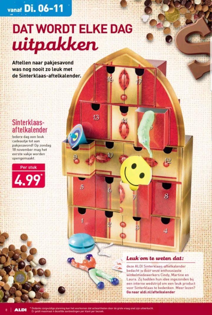 @Aldi, Sinterklaas aftelkalender