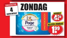 12 Rollen Page Toiletpapier (alleen zondag) @ Dirk van de Broek