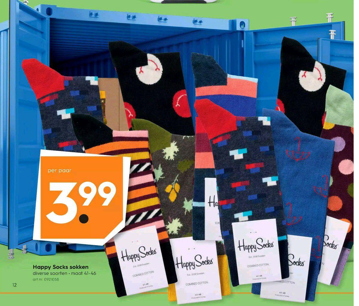 Happy Socks @blokker voor €3,99