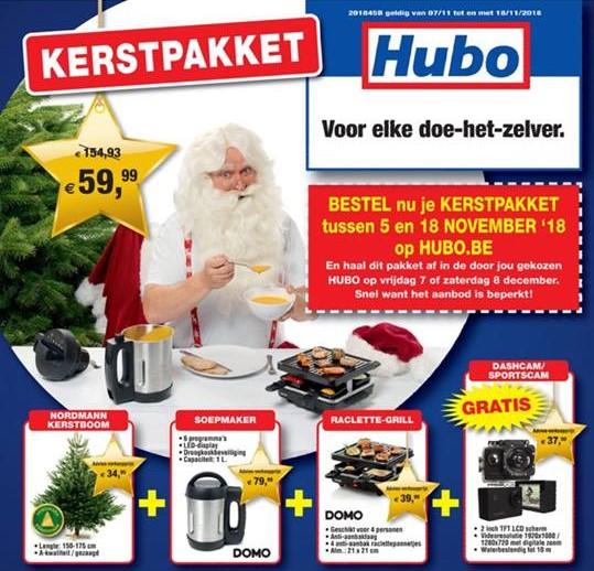 [BE]  Kerstpakket Hubo (kerstboom Nordmann+ soepmaker + raclette/grill + cam)