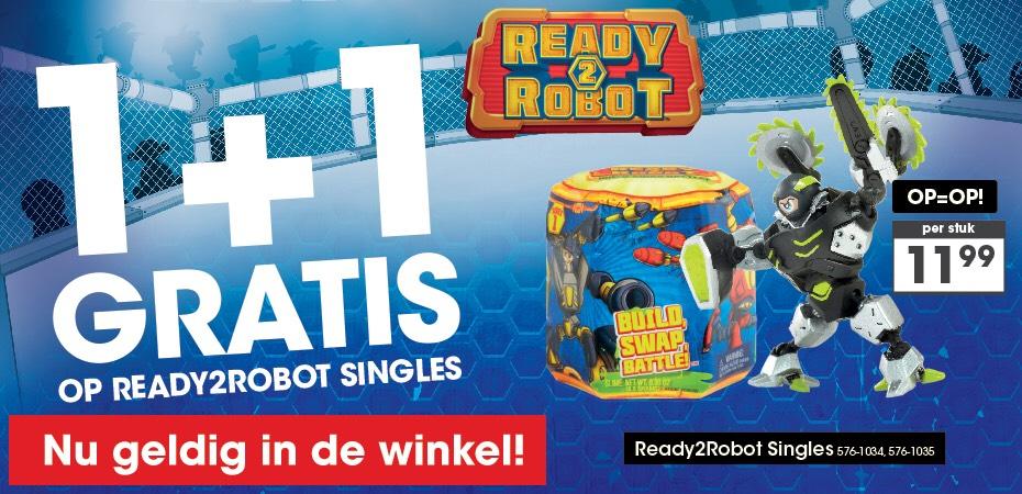 1+1 Gratis Ready2Robot Singles @Top1Toys