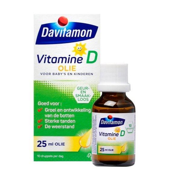 1 + 1 Gratis!  Davitamon Vitamine D olie @ kruidvat