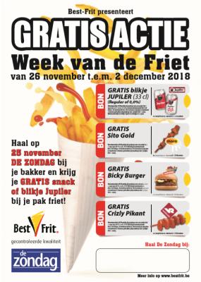 [Grensdeal België] Gratis snack, hamburger of Jupiler bij de Vlaamse frituur