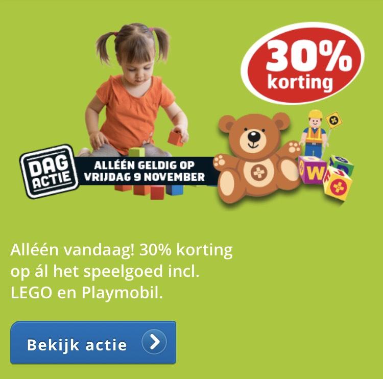 Trekpleister 30% korting ook op Lego en Duplo