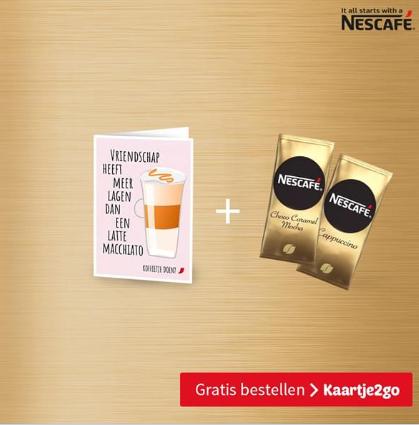 Gratis kaart met koffie (NESCAFÉ Gold koffie specials)
