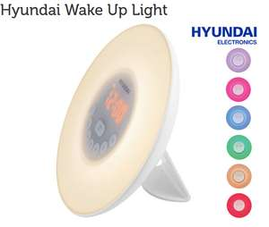 Hyundai wake up light. -73%.  6 LED kleuren, 6 geluiden. FMradio.