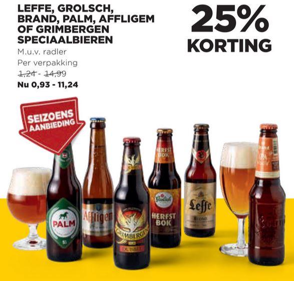25% korting op speciaalbieren - Seizoensaanbieding @Jumbo