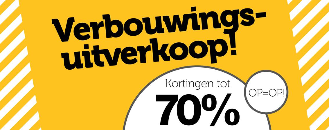 Verbouwingsuitverkoop Woonexpress Rotterdam tot 70% korting