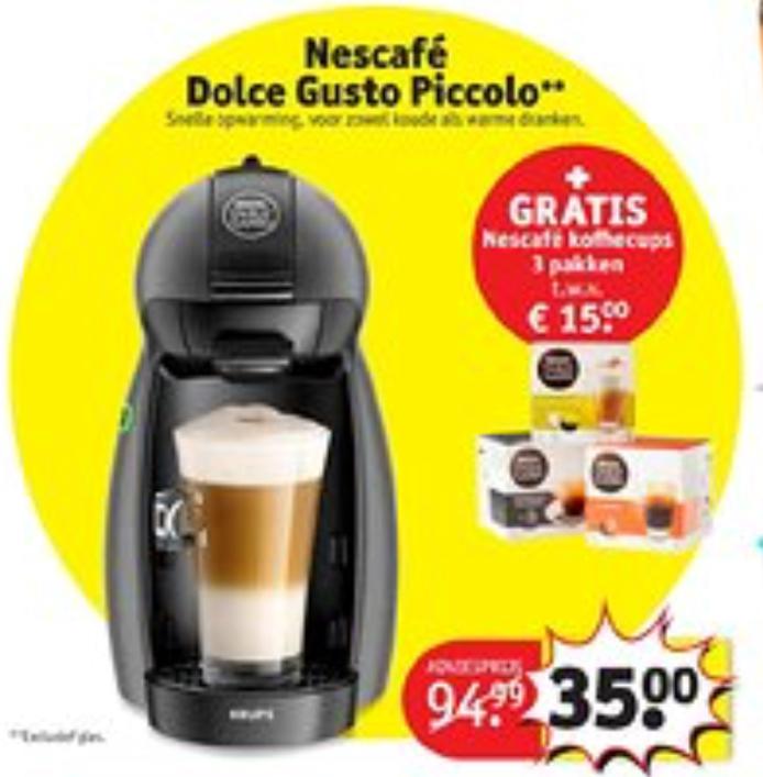 Nescafé Dolce Gusto Piccolo met 3 doosjes cups € 35,00 @Kruidvat