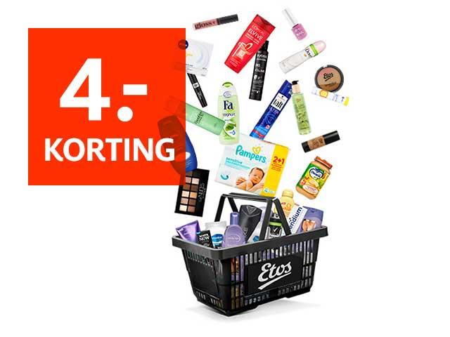 4€/7€ korting bij besteding vanaf 20€/35€ @ Etos