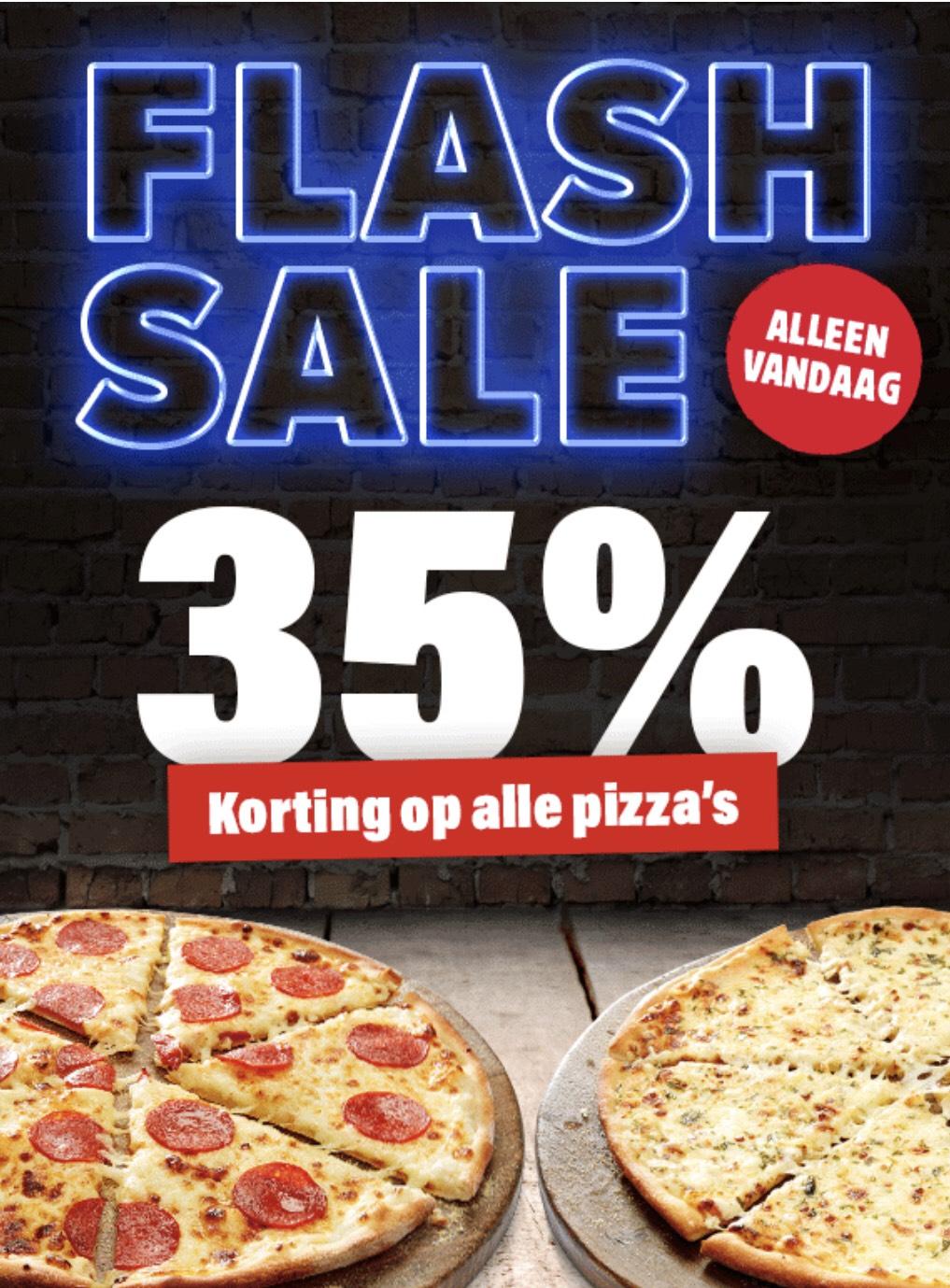 Domino's : 35% korting op alle pizza's