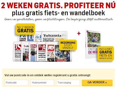 2 (of 4) weken gratis + gratis fiets- en wandelboek