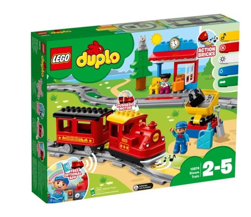 Lego Duplo stoomtrein 10874 + treinrails met 50% korting bij Bol.com