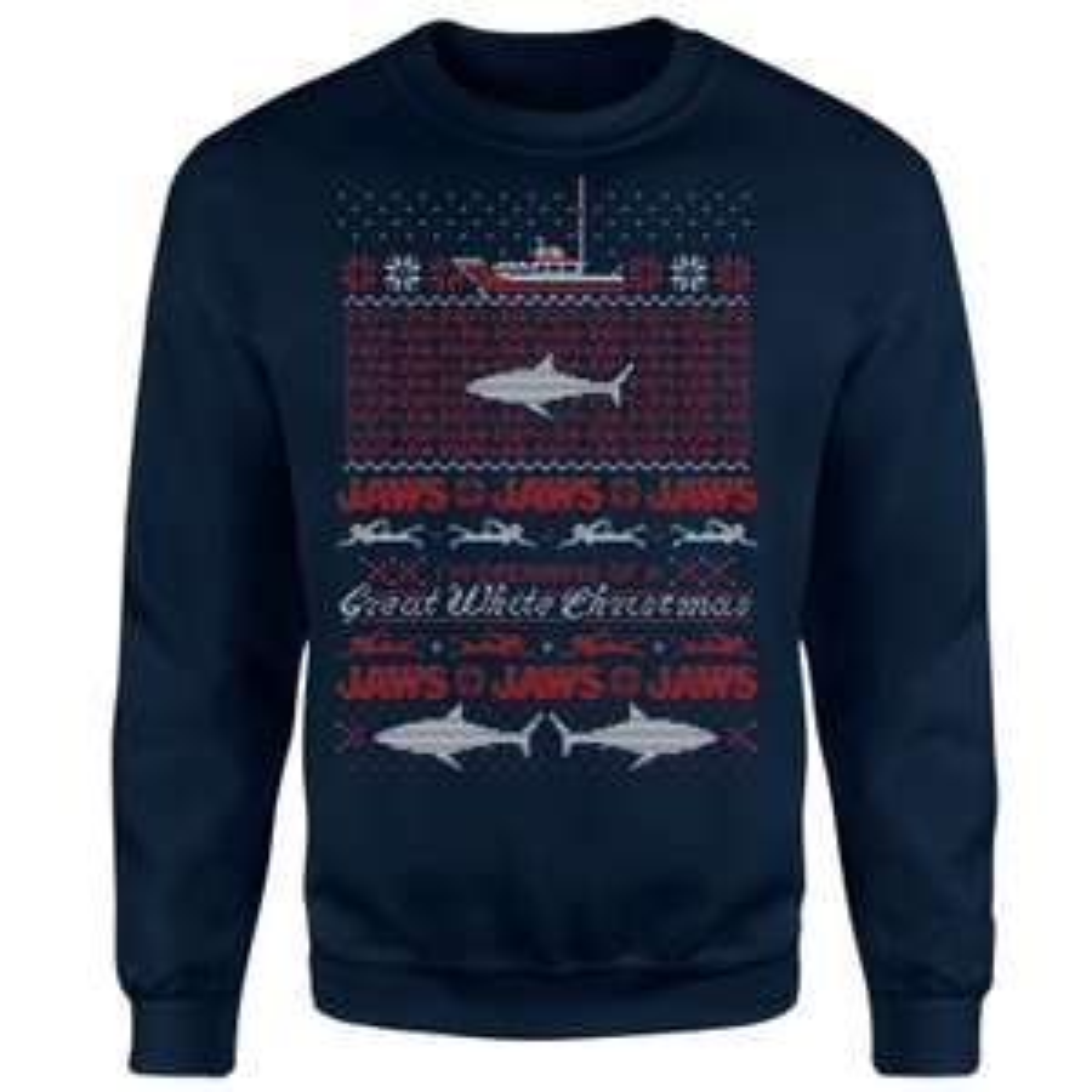 Jaws Great White Kersttrui voor €20,99 incl. verzending @Zavvi