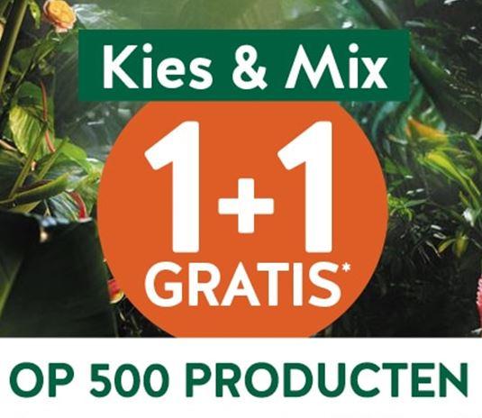 Actie: 1+1 gratis op 500+ artikelen + €5 extra korting (va €50) @ Holland & Barrett