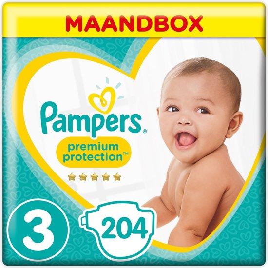 Tijdelijk € 35,99 | Pampers maandbox | maat 3 | 204 stuks
