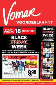 Diverse Black Friday deals bij Vomar.