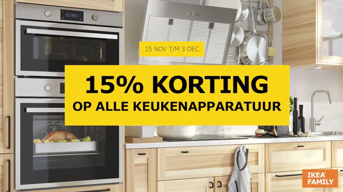 IKEA Family 15% korting de keukenapparatuur