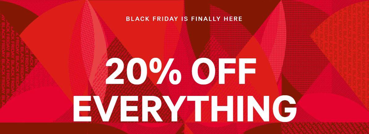 Black Friday - 20% (extra) op alles + gratis verzending @ H&M