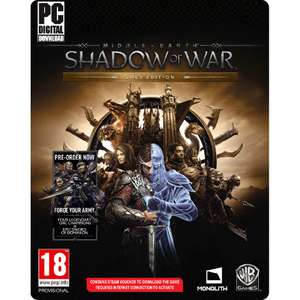 Middle Earth Shadow of War Golden Edition (PC) voor €9,99 @ Intertoys