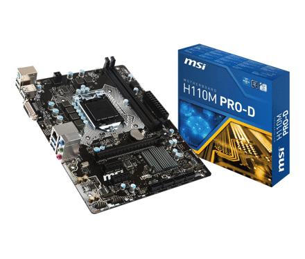 MSI H110M PRO-D, s1151 @ MyCom.nl