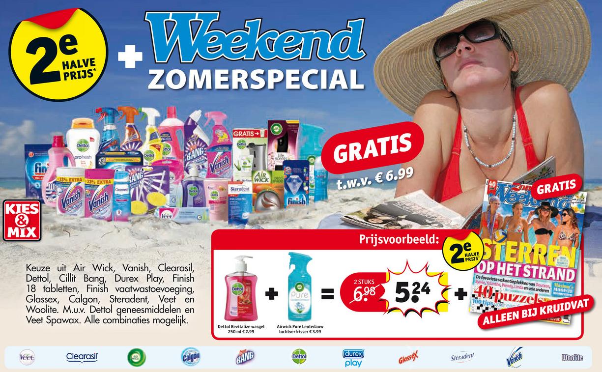 Gratis Weekend Zomerspecial t.w.v. €6,99 bij aankoop van 2 actie-artikelen (+2e halve prijs) @ Kruidvat