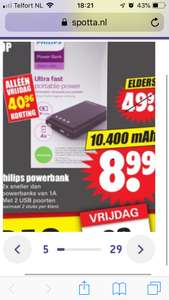 Philips DLP10405/10 USB-powerbank DIRK Alleen 23 nov. Black Friday