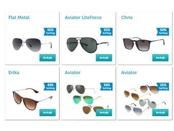Diverse Ray Ban zonnebrillen tot 58% korting @ iBood